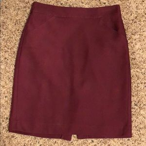 J. Crew Size 2 Purple Wine Pencil Skirt